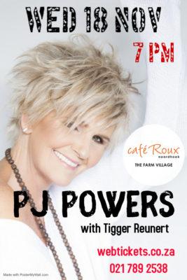 PJ Powers @ cafe Roux, Noordhoek