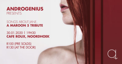 Androgenius presents a Maroon 5 Tribute Show @ cafe roux, Noordhoek