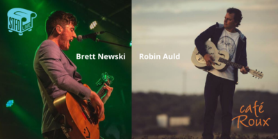 Robin Auld Music and Brett Newski (USA) @ cafe roux, Noordhoek