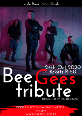 A Bee Gees Tribute Show presented by 1925s Band @ cafe roux, Noordhoek